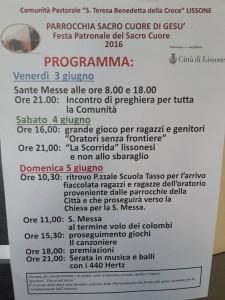 programma festa parrocchia